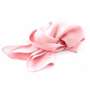 Luxe zijden sjaal in verschillende formaten - Rose