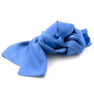 Zijden sjaal - Middenblauw
