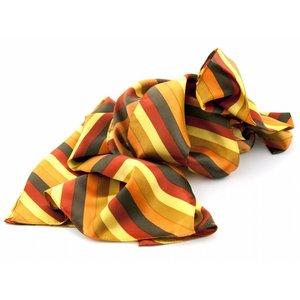 Sjaal met streepdessin in gele en oranje tinten