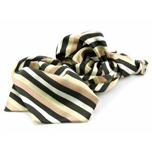 Sjaal met streepdessin - Bruin