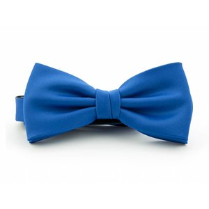 Vlinderstrik polyester-satijn Kobaltblauw