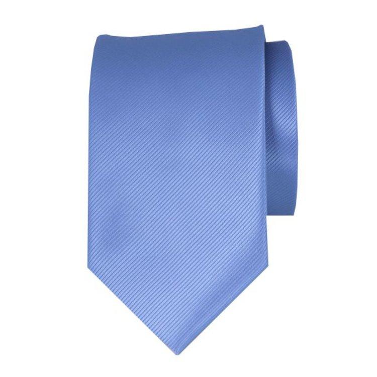 Polyester stropdas - Middenblauw
