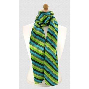 Sjaal met streepdessin - Groen