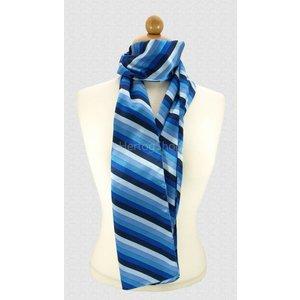 Sjaal met streepdessin - Blauw