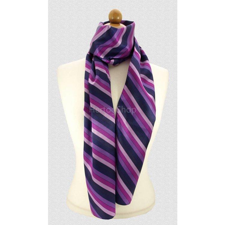 Sjaal met streepdessin in paarse tinten
