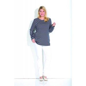 Bretonse streepshirt dames lang model
