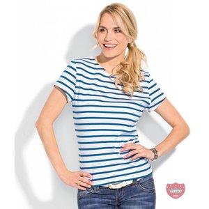 Bretonse streepshirt dames korte mouwen