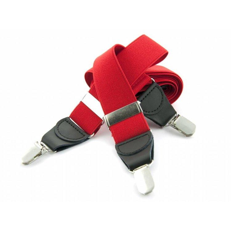 Bretels elastiek 35mm Helder rood