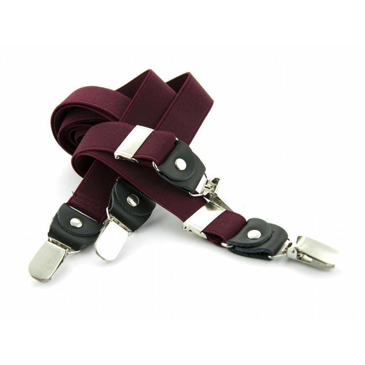 Bretels elastiek 25mm Bordeau