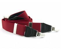 Bretels elastiek 35mm Rood met Donkerblauwe stippen