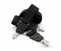 Bretels elastiek 35mm Zwart met Fuchsia stippen