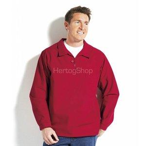 Takelhemd met knoopsluiting, uni rood