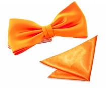 Strik met pochet polyester-satijn Oranje