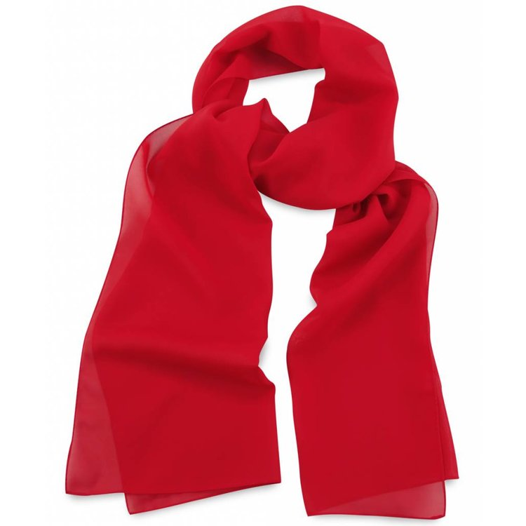 Polyester sjaal Rood 30x140cm