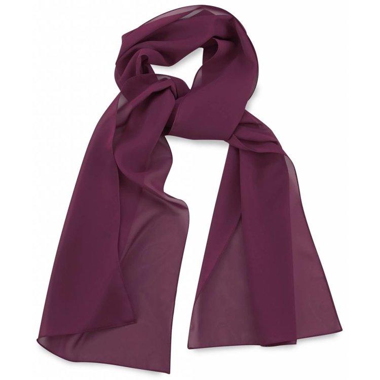 Polyester sjaal Aubergine 30x140cm