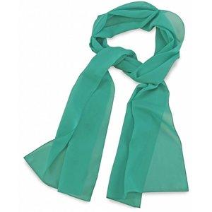 Polyester sjaal Mintgroen 30x140cm