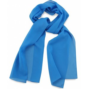 Polyester sjaal Processblue 30x140cm