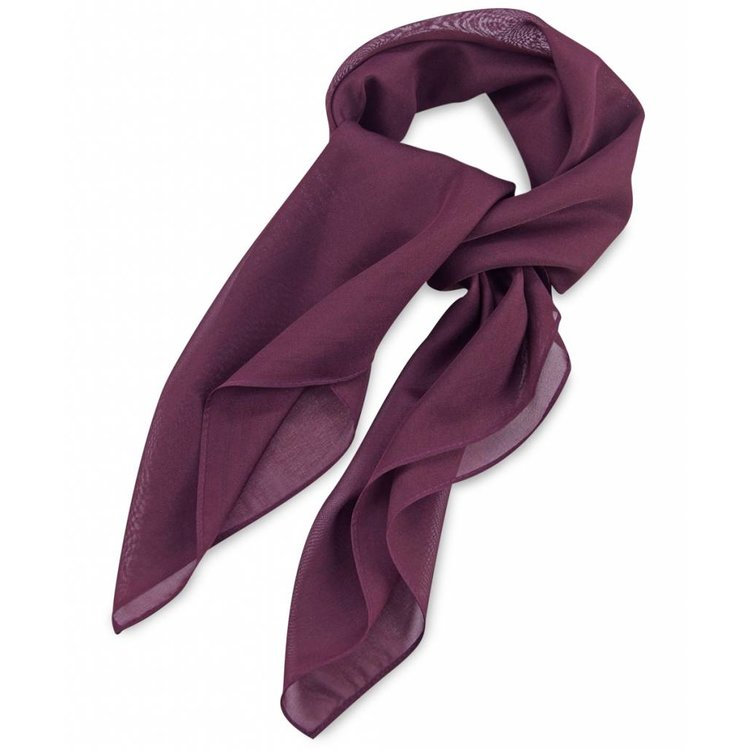 Polyester sjaal Aubergine 75x75cm