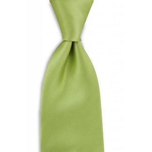Polyester stropdas uni repp Limegroen