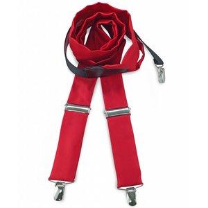 Polyester bretels repp Rood