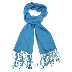 Pashmina sjaal Premium - Kleur Processblue