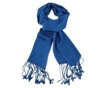 Pashmina sjaal Premium - Kobaltblauw