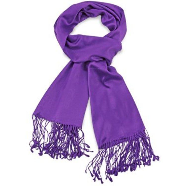Pashmina sjaal Premium - Kleur Paars