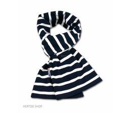 Bretonse sjaal ca. 15x140 cm in Donkerblauw met witte streep