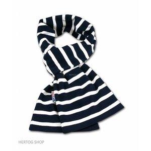 Modas Bretonse streepsjaal Marineblauw-wit