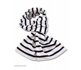 Bretonse sjaal in Wit met donkerblauwe streep