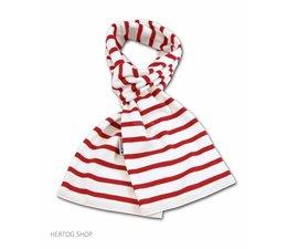 Bretonse sjaal ca. 15x140 cm in Wit met rode streep