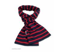 Bretonse streepsjaal Marineblauw-rood