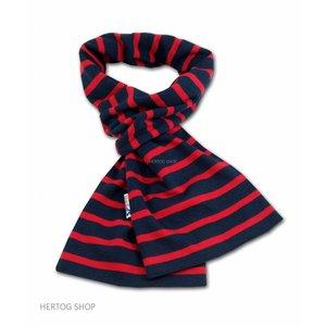 Modas Bretonse streepsjaal Marineblauw-rood