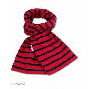 Modas Bretonse streepsjaal Rood-marineblauw