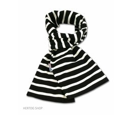 Bretonse sjaal ca. 15x140 cm in Zwart met witte streep