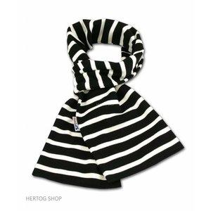 Modas Bretonse streepsjaal Zwart-wit