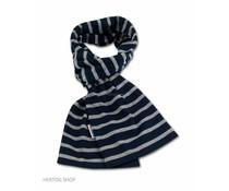 Bretonse streepsjaal Marineblauw-grijs melange