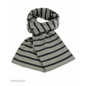 Modas Bretonse sjaal ca. 15x140 cm in Grijs met antraciet streep