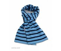 Bretonse streepsjaal Middenblauw-marineblauw