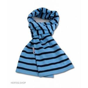 Modas Bretonse streepsjaal Middenblauw-marineblauw