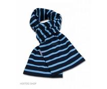Bretonse streepsjaal Marineblauw-middenblauw