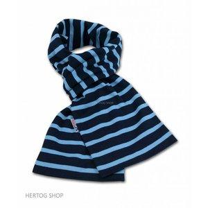 Modas Bretonse streepsjaal Marineblauw-middenblauw