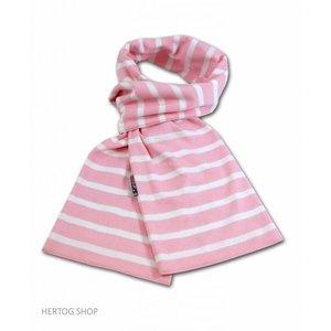 Modas Bretonse streepsjaal Roze-wit