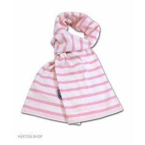 Modas Bretonse streepsjaal Wit-roze