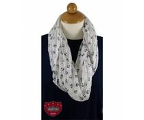 Voile sjaal met anker dessin