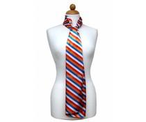 Sjaal met streepdessin - Rood/Wit/Blauw/Oranje