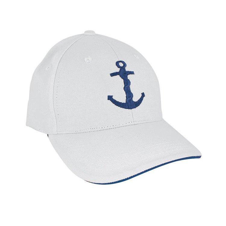 Witte baseball cap met Anker