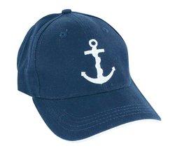 Blauwe baseball cap met Anker