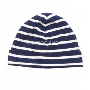 Bretonse streep-muts  Marineblauw-wit