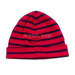 Bretonse streep-muts  Rood-marineblauw